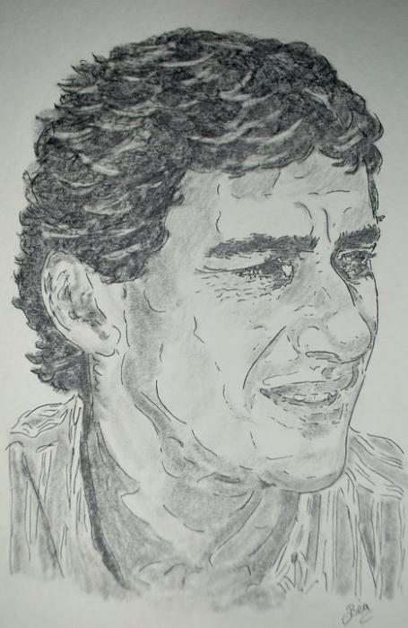 Ayrton Senna por Beatriz.ch